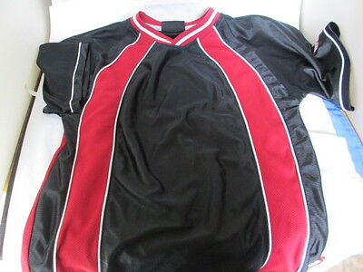 Wilson Boys Black & Red Tennis Basketball Sport Polyester Jersey Size 8