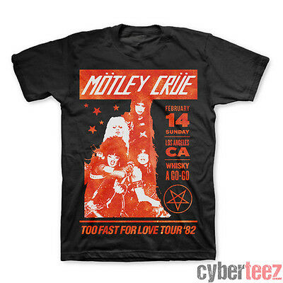MOTLEY CRUE T-Shirt Too Fast For Love 82 Whisky Final Tour New Authentic S-2XL