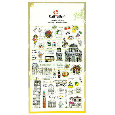 Roman Holiday Style Transparent Diary Deco Stickers Labels Scrapbook Journal
