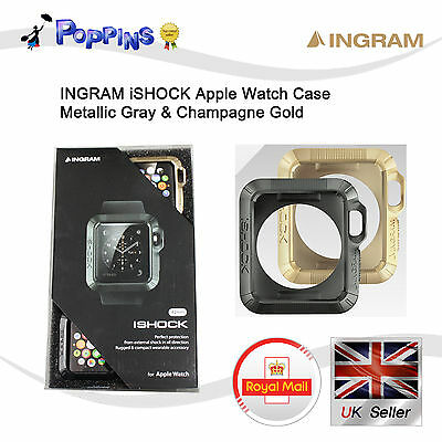New Genuine Ingram iShock Apple Watch Case (42mm) Metallic Gray & Shampagne Gold