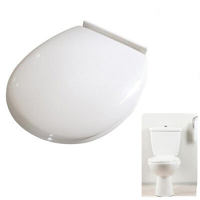 Croydex Toilet Seat Cover Anti-Bacterial White Polypropylene Fixing 115mm-195mm