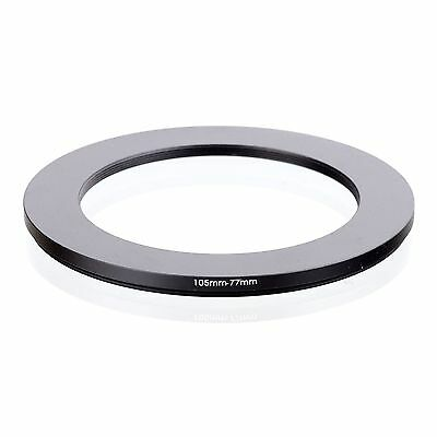 RISE(UK) 105mm-77mm 105-77 mm 105 to 77 Step down Ring Filter Adapter black