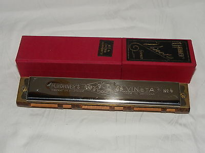 HOHNER MUNDHARMONIKA CHORD HARMONICA VINETA No.4 BFC in ORIGINAL BOX   #8