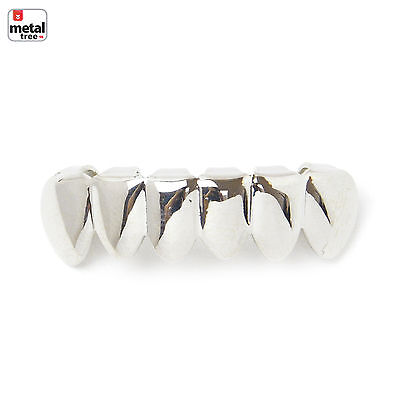 NEW GRILLZ Small Plain White Gold Plated Bottom Teeth * Made IN KOREA *S001S