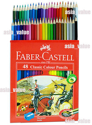 FABER CASTELL Classic Color Set 48 Pencils ( Shipping With Tracking Number) Cute