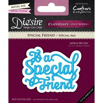 Crafters Companion Die'sire Classiques Only Words Special Friend Die DS-C-FRIEND