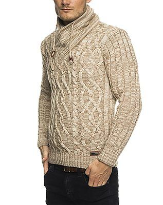 Subliminal Mode – Pull Over Col Châle Homme Tricot SB-16082 Petite Maille Montan