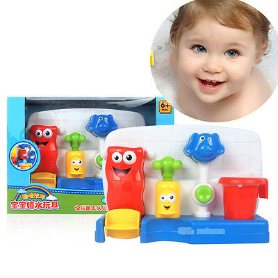 Children Kids Baby Bath time Toys Learning Fun Tap Flow Fill Spout Water Toy