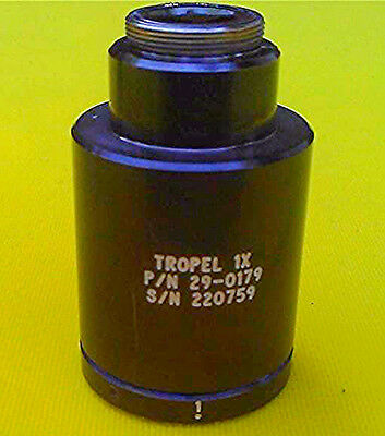 TROPEL LENS 1X DUV OBJECTIVE P/N 29-0179 Wafer UV VERY GOOD CONDITION