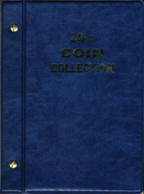 VST Australian 20c Coin Album 1966 to 2019 - Blue Cover