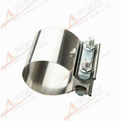 "3"" Stainless Steel 3"" Inch Exhaust Flat Band Clamp AU"