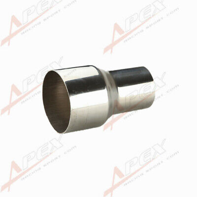 """76MM (3"""")ID To 63MM(2.5"""")OD SS Flared Exhaust Reducer Connector Pipe  AU"""