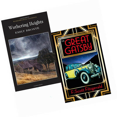 The Great Gatsby & Wuthering Heights 2 book collection F. Scott Fitzgerald