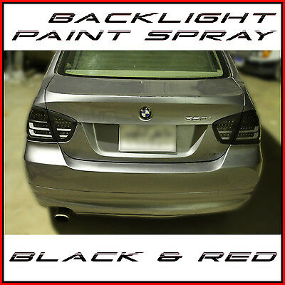 400ml Back Light Paint Spray Black Red Lacquer Car Lights Tuning Tail Lens Tint