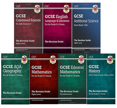 GCSE The Revision Guide Collection 7 Books Set, Maths,Geography,Core Science NEW