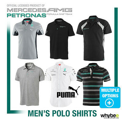 Sale! Mercedes-AMG Official Men's Polo Shirt Collection - Formula One Team F1