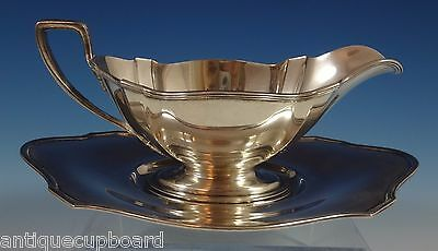 "Plymouth By Gorham Sterling Silver Gravy Boat & Underplate 3 7/8"" Tall (#0857)"