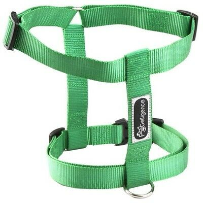 New Wholesale Lot Of 10 Dog Nylon Harnesses All Size Large (Green)