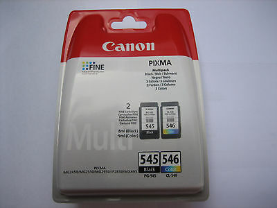 ORIGINAL Multipack black color CANON PG-545 + CL-546 MG-2550-2450-2950 Rech+MwSt
