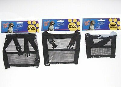 Dog Safety Muzzle  Biting Barking Chewing Available in 4 sizes