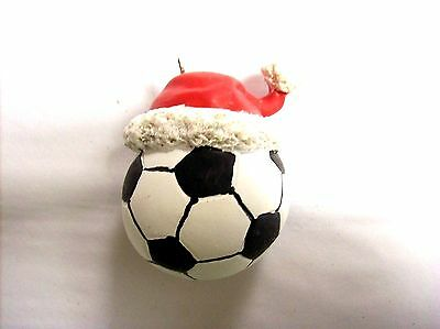 """""""Soccer Ball with Santa Hat"""" Ornament"""