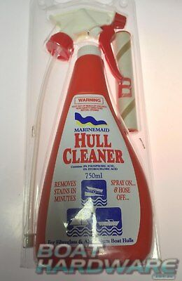 Boat Yacht Hull Marine Cleaner Spray & Hose Off Removes Stains Fibreglass & Alum
