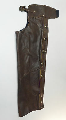 Harley Davidson * Made In Usa * Heritage Brown Leather Chaps Mens Medium Med   7
