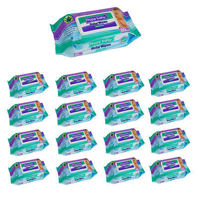 Aloe Vera Cleansing Wet Wipes - 12 x 80 packs - protective baby nappy wipe