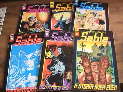 Mike Grell's  Sable #1,2,3,4,5,6 lot of 6 First comics, 1990