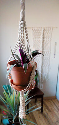 small macrame hanging planter 37""