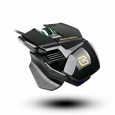 Black 2000 DPI LED USB Wired Professional Gaming Mouse Mice for PC Laptop Mac