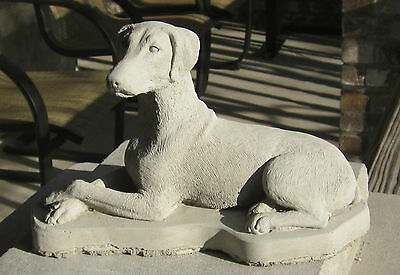 Concrete Uncropped Doberman Dog Statue / Monument