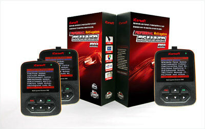 iCarsoft i902 Opel OBD Diagnosegerät Tiefendiagnose Motor Getriebe ABS Airbag...