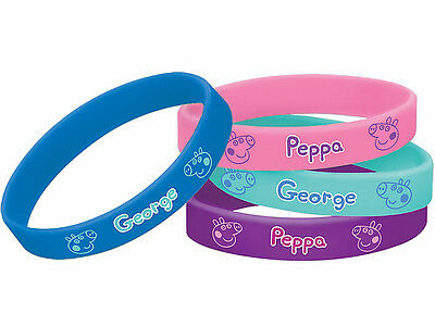 Peppa Pig & Friends Rubber Bracelet Wristbands Birthday Party Favors Supplies ~4