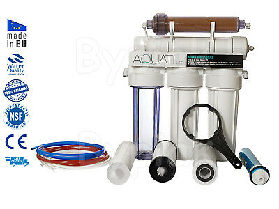 5 Stage RO with DI Resin Reverse Osmosis Water Filter System 50/75/100/150 GPD