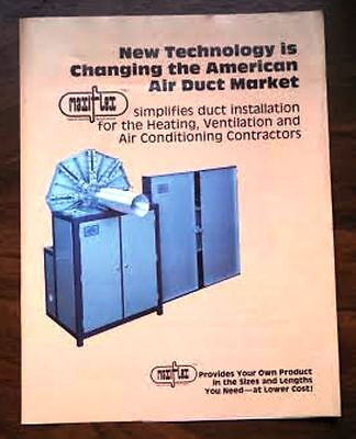 Maxiflex 1983 New Technology is Changing the American Market....   Sell Sheet