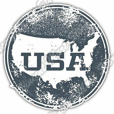 USA United States Map Grunge Vintage Stamp Car Bumper Vinyl Sticker Decal 4.6""
