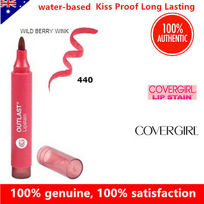COVERGIRL Outlast Lipstain lipstick 440 Wild Berry Wink Kiss Proof Long Lasting