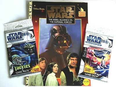 Star Wars The rebel alliance vs the imperial forces puzzle book and pocket model