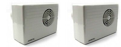2 x Manrose CF200T Centrifugal Bathroom Extractor Fans with run on Timer - 4""