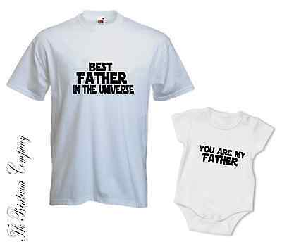 Best Father Star Wars Daddy Dad Son Daughter Matching T-Shirt Tee Vest Babygrow