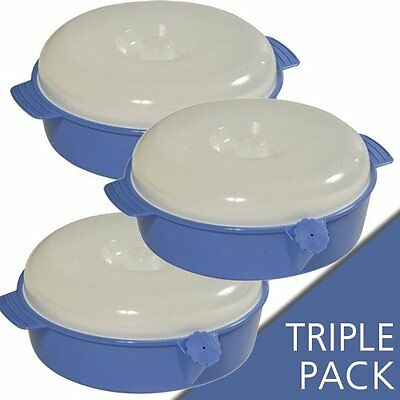 Pack of 3 Stay Warm Bowl / suction bowl with lids