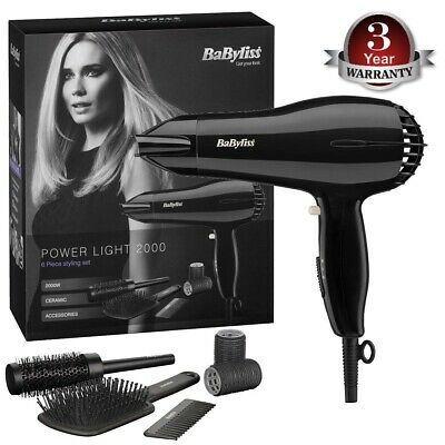 BaByliss 5249U Power Light 2000W Hair Dryer Set with Accessories For Women New