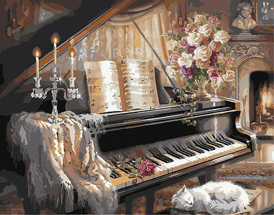 Acrylic Paint by Numbers kit 50x40cm (20x16'') The Piano Painting DIY YZ7180