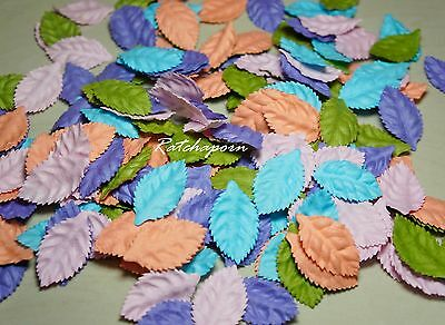 50 Mixed Pastel Color Leaves Mulberry Paper Craft & Embellishments Flower DIY#12