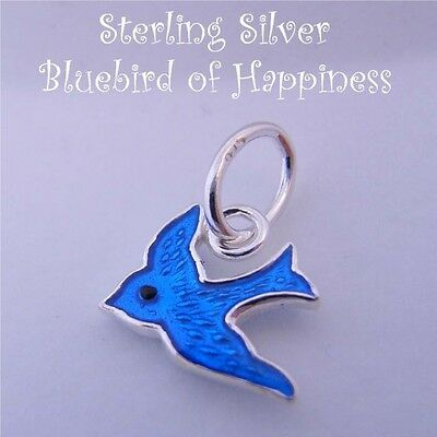 Sterling Silver Bluebird Of Happiness Charm Pendant