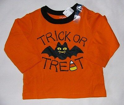 Tcp Baby Boy Girl Trick Or Treat Orange Halloween Cotton L/s T Shirt Top 6-9M