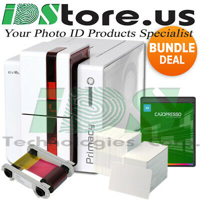 Evolis Primacy Expert Single Side Fire Red Complete Photo ID Card Printer System