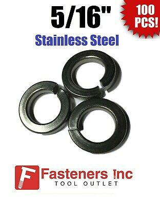 "(Qty 100) 5/16"" Stainless Steel Regular Split Lock Washers Type 18-8"