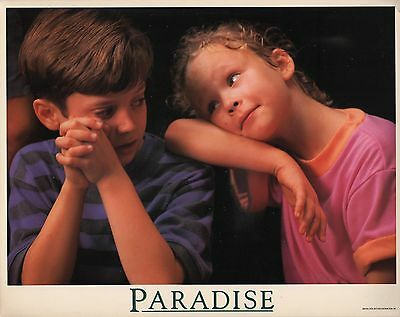 Thora Birch & Elijah Wood in ''Paradise'' Orig. COLOR LOBBY CARD 1991